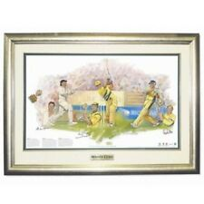 Masterclass Cricket World Cup Ricky Ponting Alan Border Steve Waugh Framed Signe