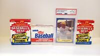 1986 Fleer Barry Bonds PSA & Update Baseball Set + 2 Sluggers & Pitchers Sets