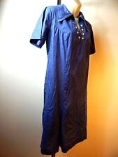 Vintage 1960 Home Hand Made Blue Scooter Northern Soul House Dress Summer Lounge