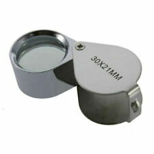 NEW Magnifying Glass Jewellers Loupe 30x21mm Useful Jewellery Eye Lens Magnifier
