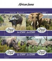 Sierra Leone - 2019 African Fauna - 4 Stamp Sheet - SRL190112a