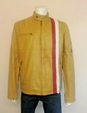 BELSTAFF Gold Biker / Cafe Racer Style aged Leather Jacket Made in Italy