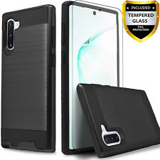 For Samsung Galaxy Note 10 Plus 9 8 Phone Case Cover + Tempered Glass Protector
