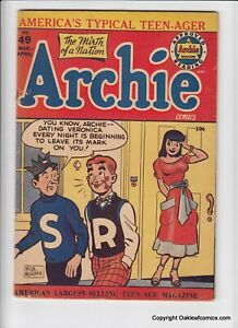 Archie 49 comic 1951 VG-F Sexy Veronica cover!