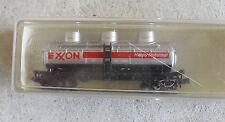 Vintage N Scale Model Power Exxon Triple Dome Tank Car in Box 3411
