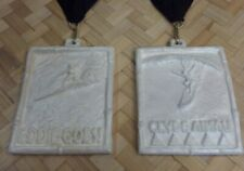 Eddie Aikau Clyde Aikau Museum Exhibit Sculpture Medals Pearlescent Version