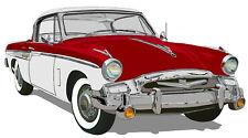 Studebaker 1955  President Speedster canvas art print - red white