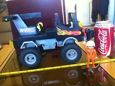 Playmobil Power Truck Giant Wheels Monster Truck Style Winch Damage Old