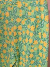 Vintage Lilly Pulitzer The Lilly Pull-On Pants Green Yellow Floral print - S