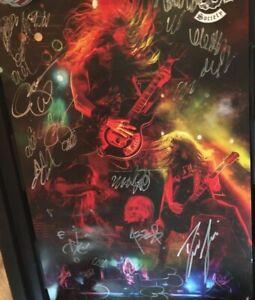 *HAND SIGNED!!* Official Zakk Wylde Black Label Society VIP tour poster