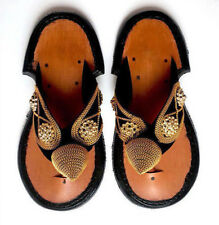 Traditional Men's Ghanaian Slippers Handmade Leather Slippers Men's Shoe Sandals