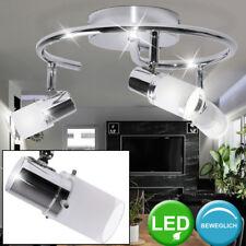 LED Decken Lampe Rondell Wohnraum Spot Leuchte Glas Strahler schwenkbar WOFI