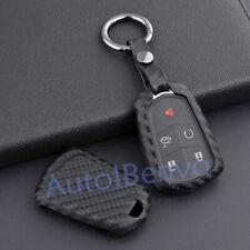 Carbon Fiber Textured Key Case Holder For Cadillac ATS CTS XTS XT5 Accessories