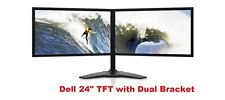 "DELL TFT 24"" Dual Screen COMPUTER PC LAPTOP MONITOR VGA FLAT SCREEN"