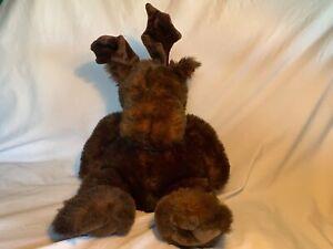 """Unipak Designs Inc  Large 20"""" Plush Moose Stuffed Animal Toy Brown Antlers Soft"""