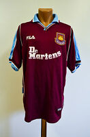 WEST HAM UNITED ENGLAND 1999/2000/2001 HOME FOOTBALL SHIRT JERSEY FILA