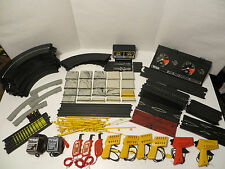 Vintage TYCO SLOT CAR SET PARTS; Track, Supports, Power Packs, Lap Counter, etc.