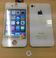 Genuine Quality Replacement Lcd Screen Back Glass For Original iPhone 4 White