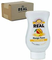 Mango Real, Mango Puree Infused Syrup, 16.9 FL OZ Squeezable Bottle (Pack of 1)