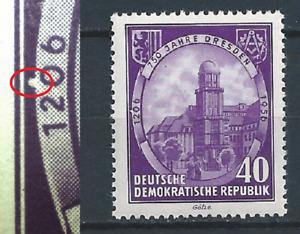 DDR 750 Jahre Dresden MNR 526 mit PF/DZ postfr