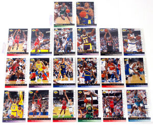 1992-93 Upper Deck Jerry West Selects Basketball Insert Set in Sheets (20)