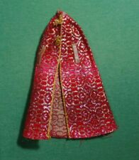 Super Star Era Barbie Doll 9835 Shine for TV Time Red and Gold Brocade Cape