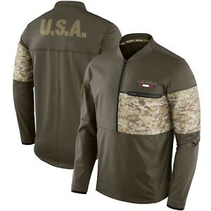 New Atlanta Falcons Nike Salute To Service STS Sideline Hybrid 1/2 Zip Jacket