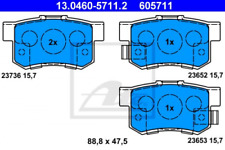 Honda FR-V BE3 2.0 153 Plaquettes Frein Avant DISQUES 282 mm ventilé