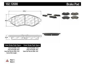 Disc Brake Pad Set-C-TEK Metallic Brake Pads Front Centric fits 07-09 Pontiac G3