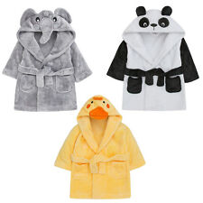 Babies Dressing Gown Girls Boys Novelty Cute Fleece Bath Robe Kimono Nightwear