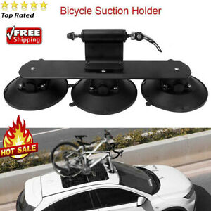Solid Car Roof-Top Suction Bike Holder Carrier Bicycle Transporting Luggage Rack