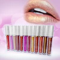 2In1 Lipgloss Long Lasting Metalic Lip Tint Eyeshadow liquid Glitter Pigment MQ