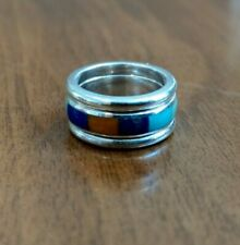 Silpada R1261 Set of 3 Stackable Sterling Silver and Precious Stone Inlay Rings