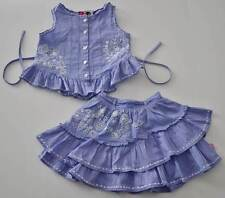 Girls Sz 92 2y MIM-PI Purple 2 pc Top Skirt Set Outfit Embroidered Mim Pi