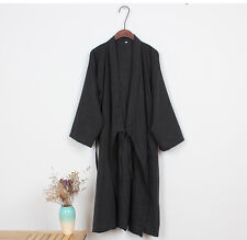 Nuovo Cinese Giapponese Orientale Uomo Marziale Kung Fu Kimono Vestaglia mrobe10