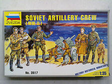 Zvezda 3517 SOVIET ARTILLERY CREW (WWII) 1:35 NUOVO E IMBUSTATO