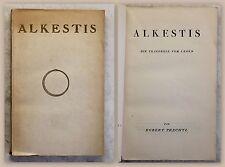 Prechtl Alkestis Tragödie vom Leben Spiegel-Verlag 1920 Theaterstück Drama xz
