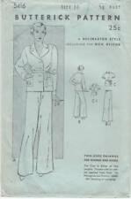 Very Rare Vintage1930s Sewing Pattern Butterick 5416 Two Piece Pajamas Htf