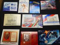 RUSSIA:   MNH,  LOT OF TEN PRISTINE  S/S FROM 1980 TO 1991,        L080718 - 9