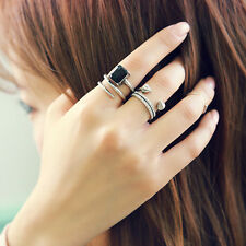 3Pcs Ladies Trendy Cool Joint Finger Arrow Rings Fashion Jewelry Accessory