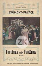 FANTOMAS CONTRE FANTOMAS Louis FEUILLADE Juve NAVARRE GAUMONT-PALACE 1914