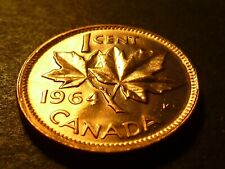 Misaligned reverse die - Canada 1964 BU 1-cent, from mint bag
