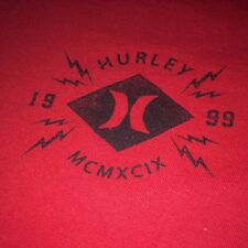 Red Hurley Surf Brand Co. Mens t-shirt tee shirt size Medium Skateboard Moto MX