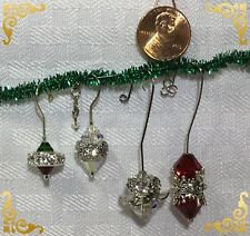 Handcrafted Silver Miniature Christmas Angel Ornament Made With Swarovski