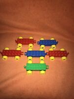 Lego Duplo Vehicle Bases X6 Train/ Car / Truck Red Blue Green