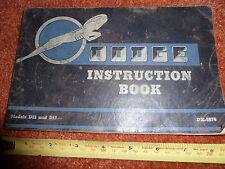 DODGE SIX D11 D12 INSTRUCTION HANDBOOK