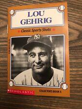 Lou Gehrig Classic Sports Shots Scholastic 1993