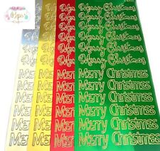 Super Shiny Merry Christmas Peel Off Stickers Sheet Card Making Craft