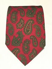 """Dunhill Red Paisley Luxury Men's Necktie 100% Silk L 57""""  W 3.75"""" Made In Italy"""