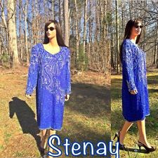 Stenay Sequined, Beaded Long Sleeves Cocktail Dress Size 20